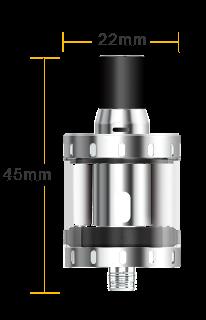 Nautilus X : hauteur 45mm, diametre 22mm
