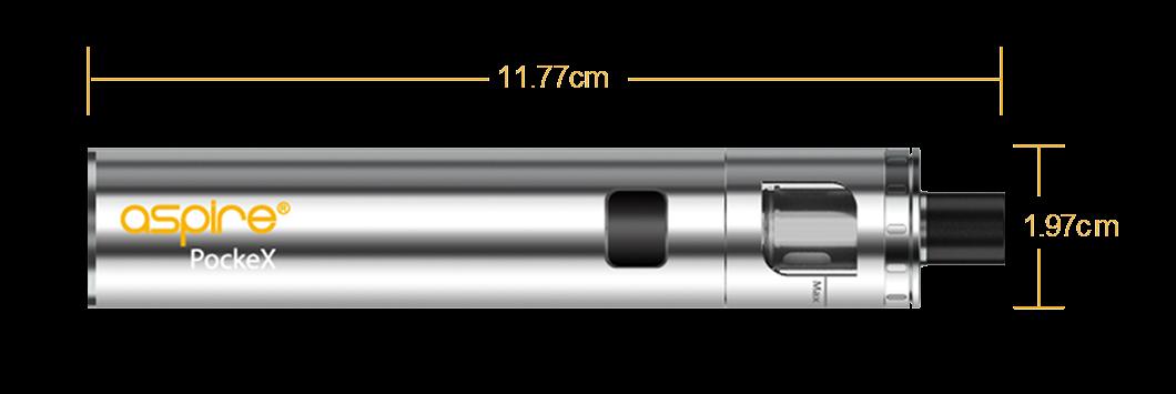 Dimensions e-cigarette Aspire PockeX