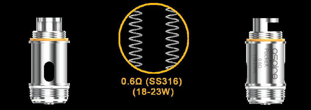 Tête d'atomiseur Aspire PockeX U-Tech