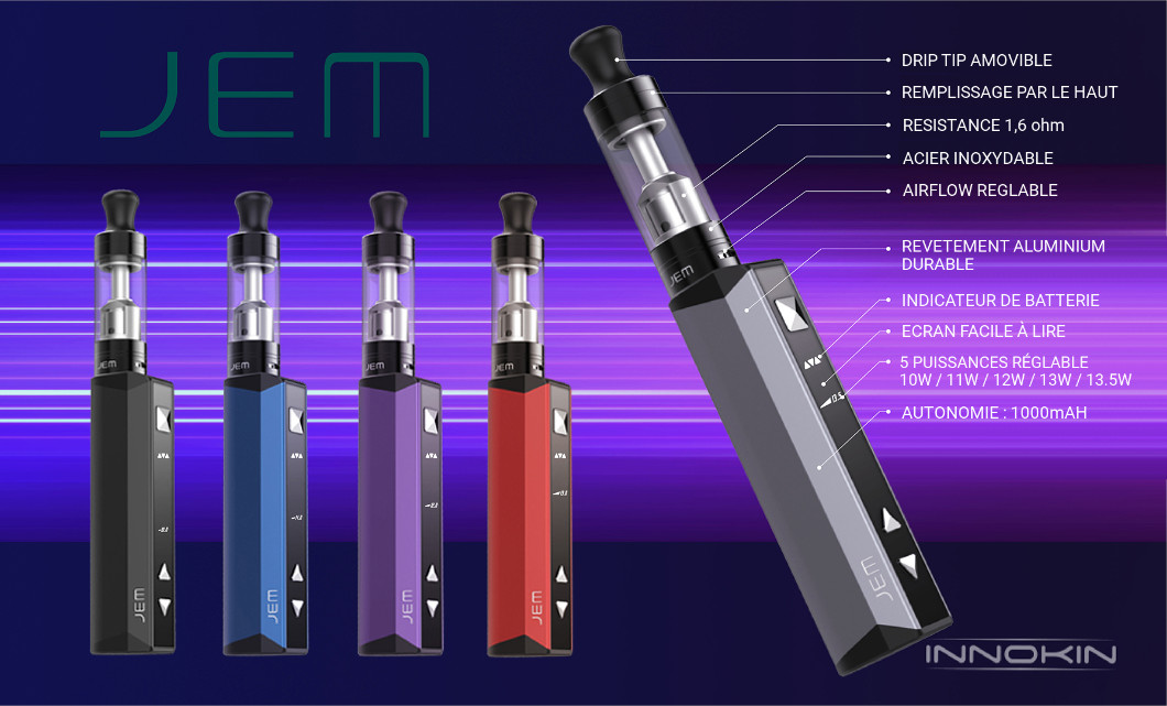 Kit Cigarette electronique JEM GOBY INNOKIN AIO