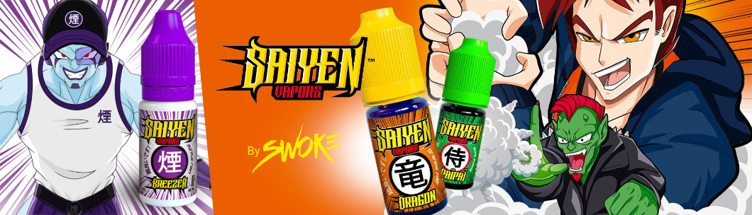 Collection de e-liquides Saiyen Vapors by Swoke