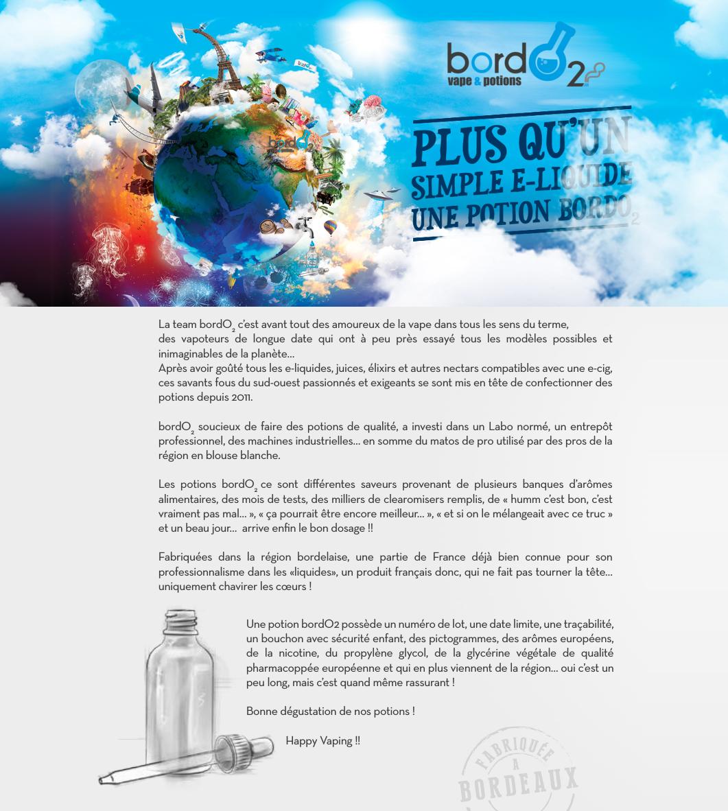 Présentation du fabriquant de eliquides Bordo2 pour cigarettes électroniques