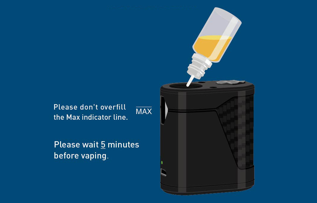 Remplir e-liquide dans PocketBox innokin